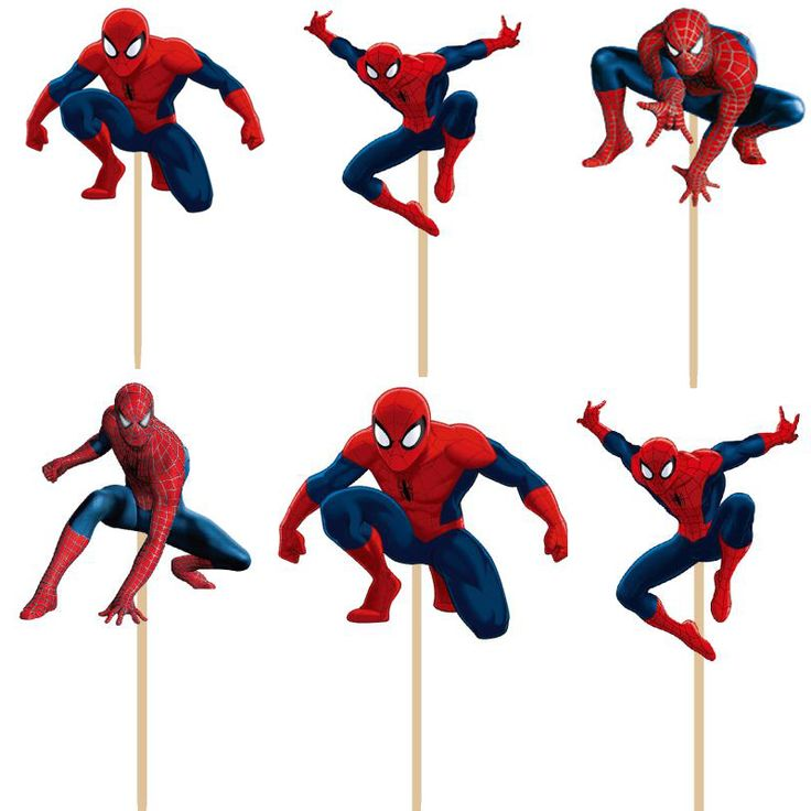 24pcs/lot Super hero Spiderman cupcake topper picks boy children party decoration Kid's birthday party decoration supplies #>=#>=#>=#>=#> Click on the pin to check out discount price, color, size, shipping, etc. Save and like it!