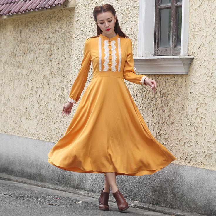 Long Sleeved Maxi Dress: Stay Stylish in Winter \u2013 Carey Fashion