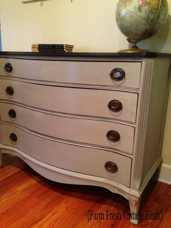 How to Transform a Dresser with Paint and Gel Stain Part 2 - Farm Fresh Vintage Finds