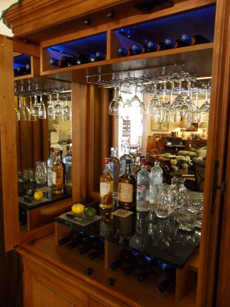 convert a desk armoire into a bar google search more