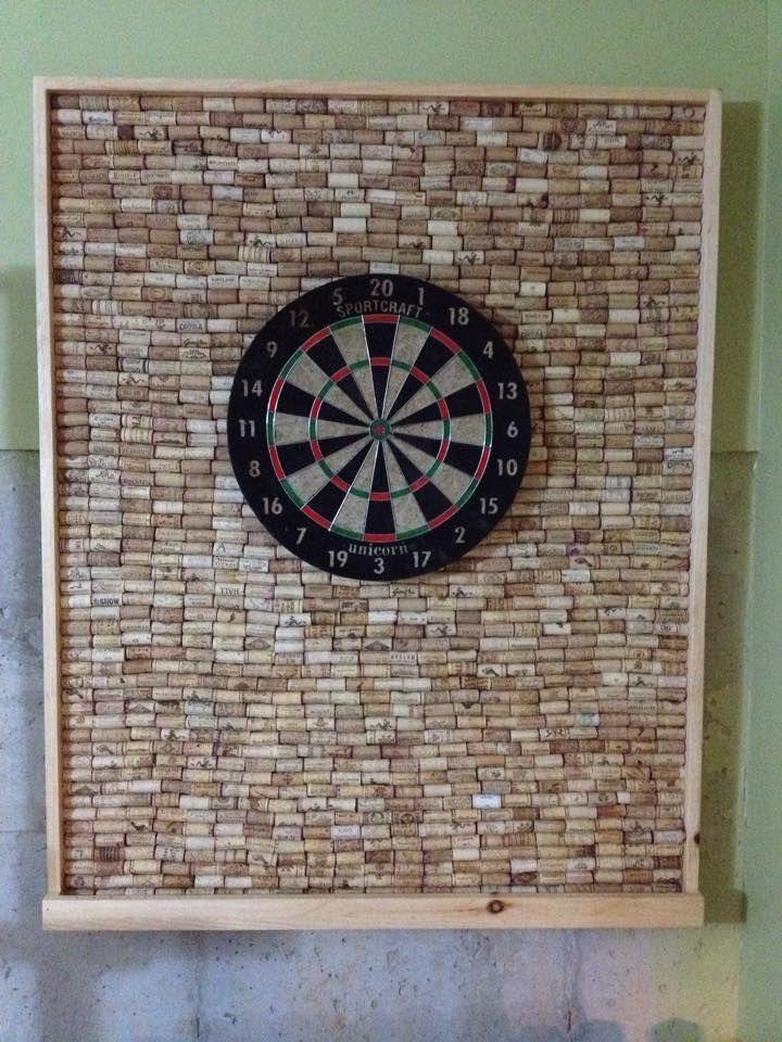 wine cork dart board backer crafts in 2019 dart board game room design darts. Black Bedroom Furniture Sets. Home Design Ideas