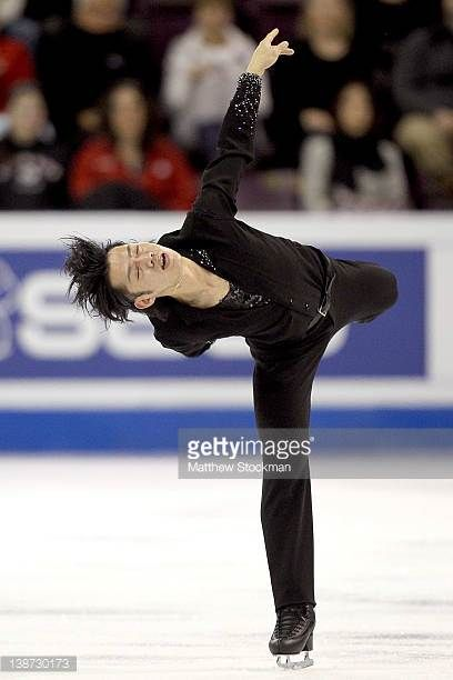 Daisuke Takahashi of Japan competes in the Men's Free Skate during the ISU Four Continents Figure Skating Championships at World Arena on February 10...