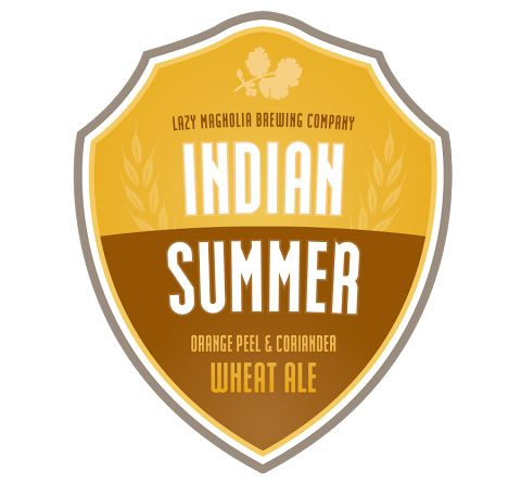 Indian Summer - Wheat Ale made with Orange Peels and Coriander #lazymagnolia