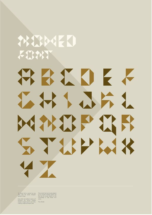 Nomed Font by med ness, via Behance