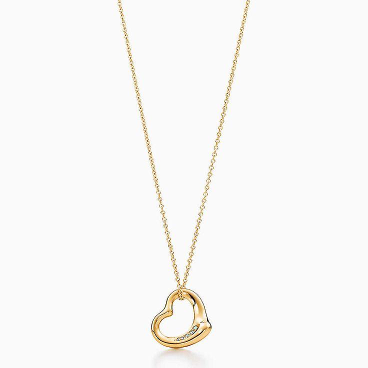 エルサ・ペレッティ オープン ハート ペンダント ダイヤモンド 18Kゴールド