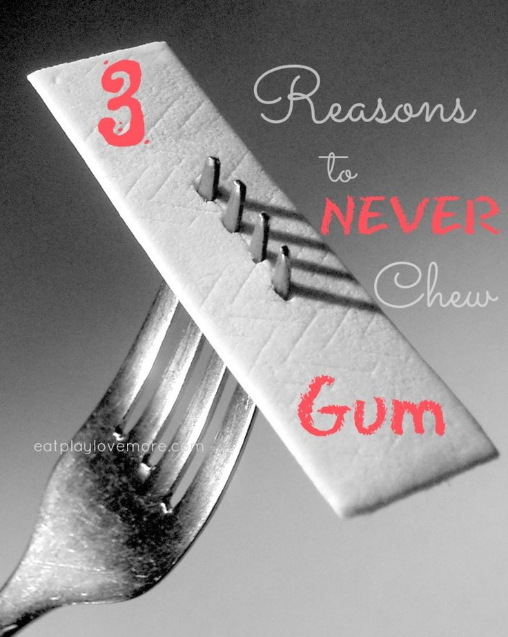 3 reasons to never chew gum