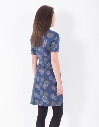 This #Brakeburn Giant Polka Shirt #Dress is the perfect smart-casual piece for any wardrobe. With its botanical inspired print on 100% cotton fabric, this dress has a gorgeous silhouette and feel.  Styling details include rolled, button back sleves, neat wooden buttons and collarless style with gently curved hem.