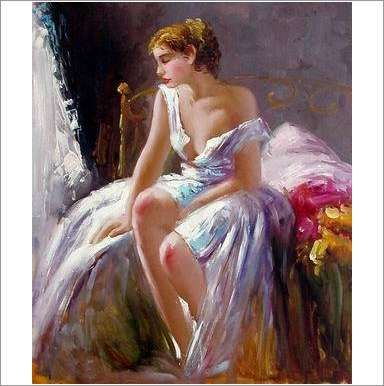 Original Oil On Canvas 'In The Boudoir' on eBid United Kingdom
