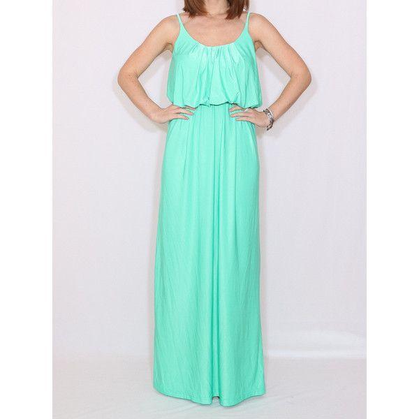 Mint Bridesmaid Dress Mint Green Dress Long Mint Dress ($45) ❤ liked on Polyvore featuring dresses, gowns, light blue, women's clothing, long evening gowns, bridesmaid gown, short dresses, long dresses and light blue bridesmaid dresses