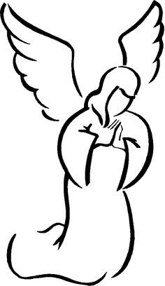 Angel Wings Clip Art Black And