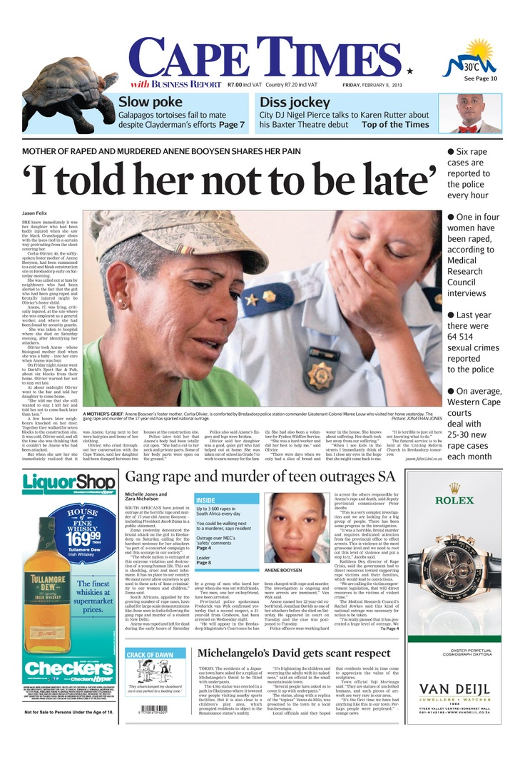 News making headlines: 'I told her not to be late'