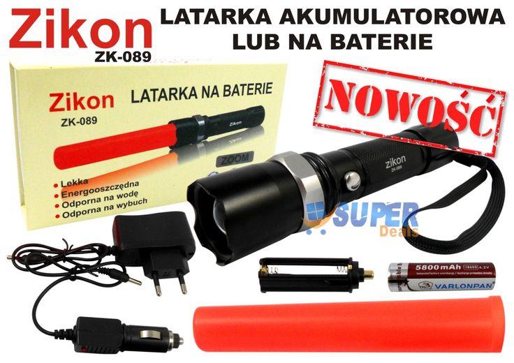 Zikon latarka LED ZOOM ZK-089