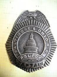 B&O RR Police Badge