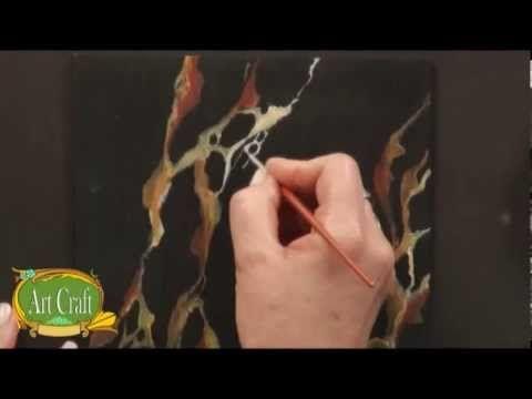 "Art Craft - Tutorial 02 / Mara Benini - Falsos Acabados ""Mármol Portoro"""
