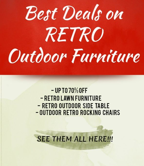 11 best pictures of vintage outdoor furniture images on for Best deals on outdoor patio furniture