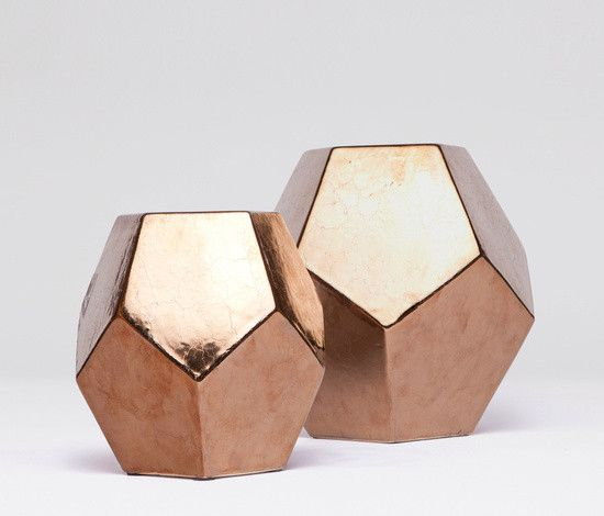 COLE OBJECT  Ceramic dodecehedron composed of 12 pentagonal faces. Sold in mulitples of 2.