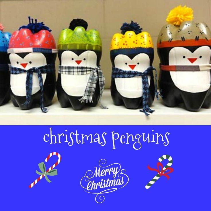 Φτιάξτε πιγκουίνους από πλαστικά μπουκάλια