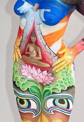 https://flic.kr/p/mVQiPr   bodypainting   Los colores para la pintura corporal son sólidos para pintar con pincel, brocha, esponja o dedos mojados, pero después de diluido se puede usar con el aerógrafo. Los colores se diluyen con agua y también con agua se quitan. Las pinturas aquí: aerografia-fengda.es/es_ES/c/Pintura-facial-y-corporal-Bo...