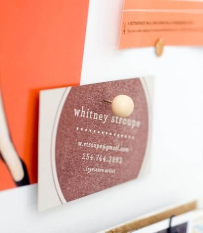 RECOMMEND: Harriot Stamp - Maemaepaperie Business Card Stamp $78