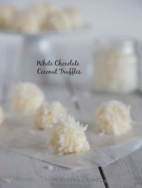 White Chocolate Coconut Truffles - super easy and perfect for any holiday get together