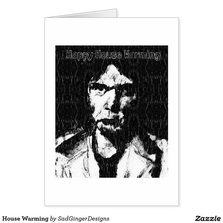 House Warming Greeting Card #darkart #art #drawing #illustration #funny #gingerart #mixedmedia #hipster #sadgingerdesigns #greetingsfromasadginger #greetingcards #specialoccasions #housewarming
