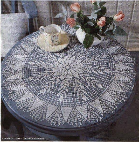 Crochet and arts: 2 tablecloths