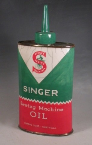 Singer Sewing Machine Oil...reminds me of the many matching crimplene dresses our Mom laboured over