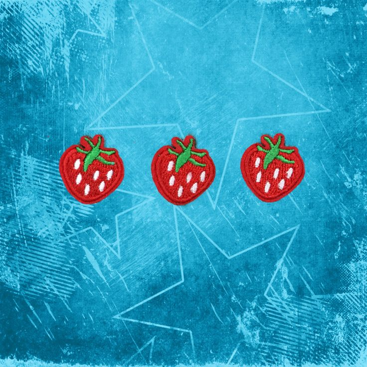 Fruit Strawberry Patch Embroidered patch Iron On Patches sew on patches Patches for cloth