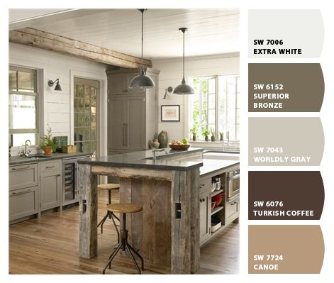 Home Decorating Ideas   Rustic Decor   Country Living (great Use Of  Barnwood, Pendant Lights And Color Of Kitchen Cabinets)