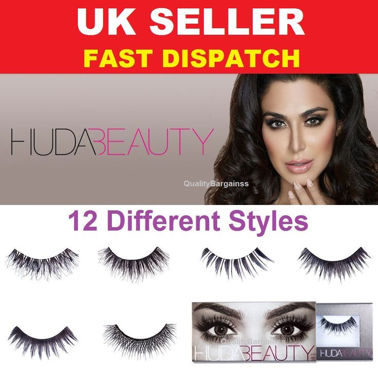 Huda Beauty Fake eyelashes Natural Fibres Lashes **12 Styles to choose from** UK #HudaBeauty