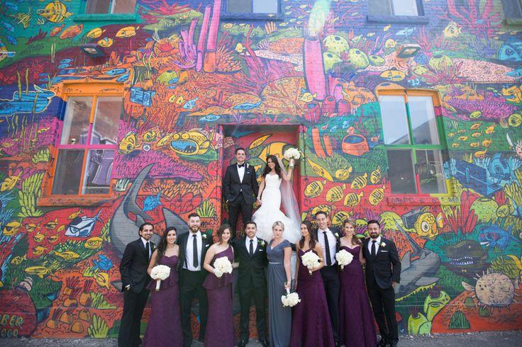 Graffiti Alley Toronto wedding party