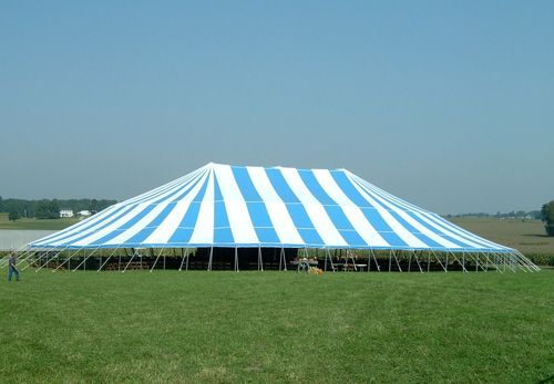 18oz premium 125' x 173' pole tent.   Tent is designed to be the strongest, most reliable and longest lived pole tent in America.