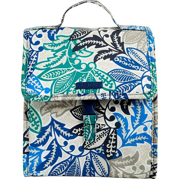 Vera Bradley Lunch Sack - Santiago - Lunch Bags ($34) ❤ liked on Polyvore featuring home, kitchen & dining, food storage containers, blue, vera bradley lunch bag, vera bradley lunch sack and vera bradley