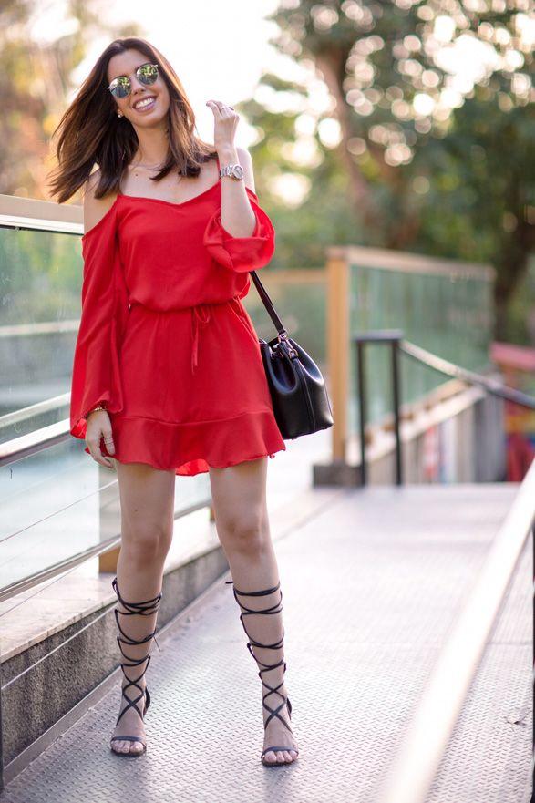 Garotas Estúpidas: vestido vermelho Malwee