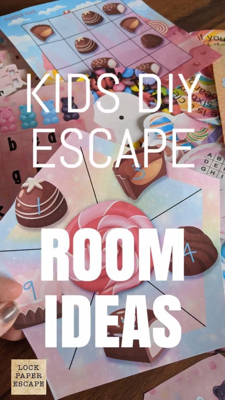 Diy escape room for kids video in 2020 escape room for