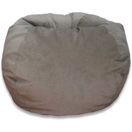 Large Textured Velvet Bean Bag, Available in Multiple Colors, Beige