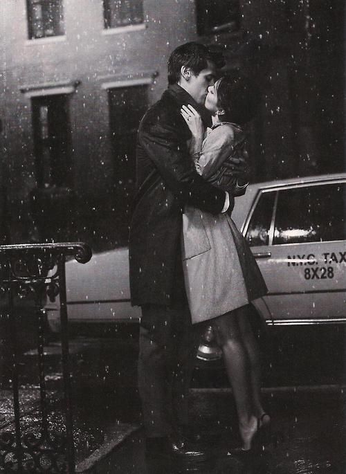 She stood on her tiptoes, completly forgeting about her stolen shoes in that moment, for he was kissing her as the snow began to fall.