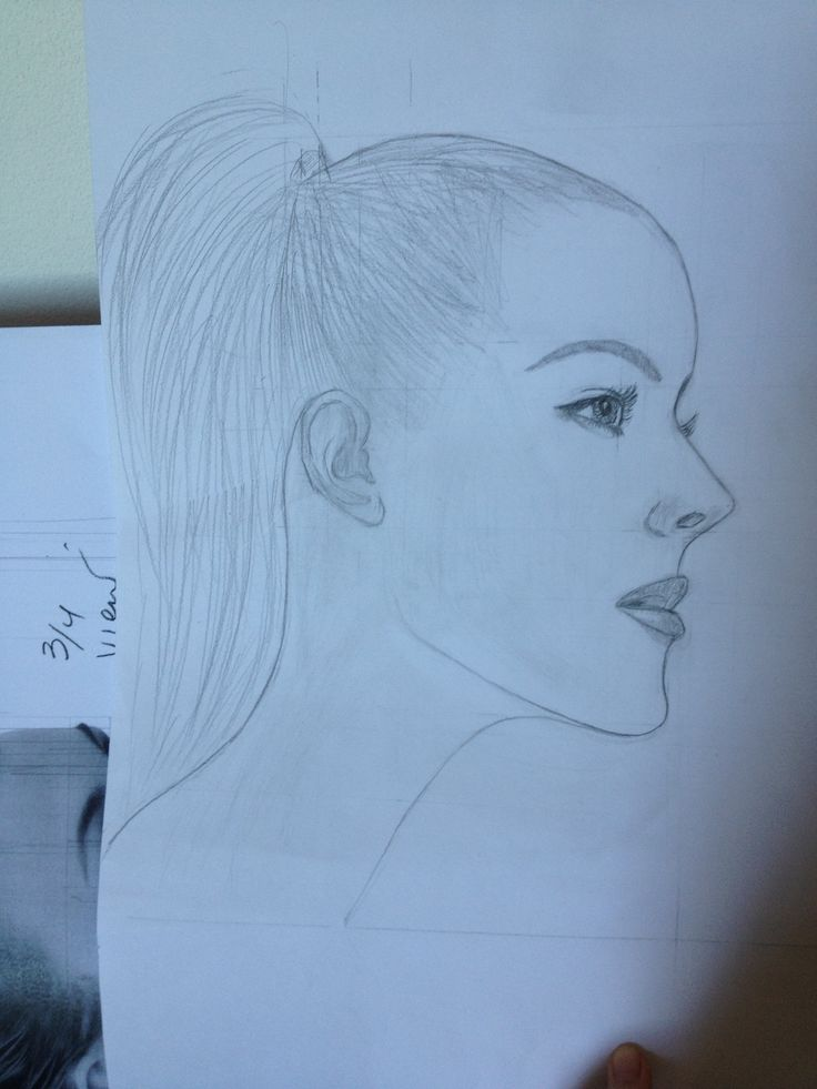 drawing practice. A profile view.
