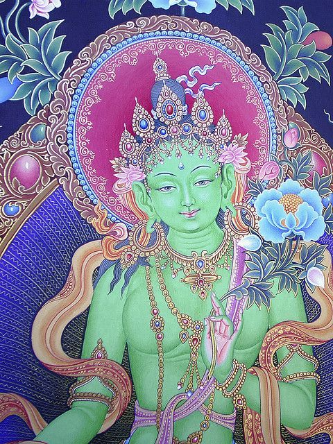 Green Tara- Goddess of compassion. She teaches us how to live as an enlightened person.