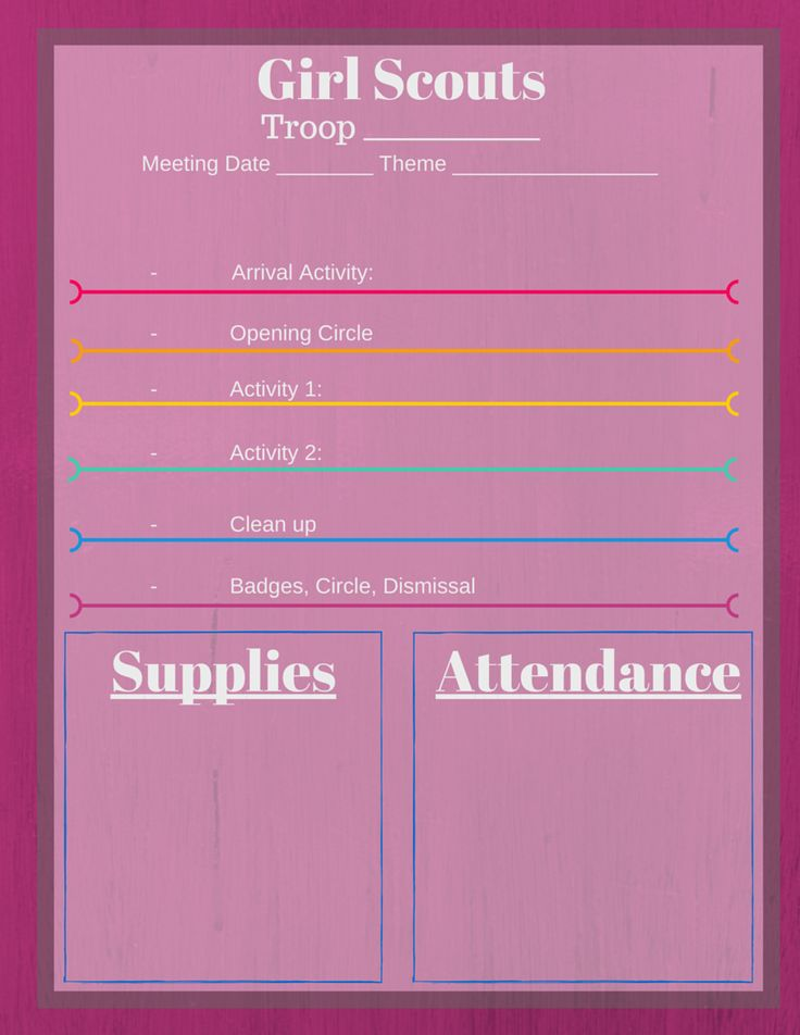 girl scout calendar template - 5 free girl scout meeting planner printables keep those