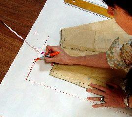 Wrap skirt pattern drafting tutorial
