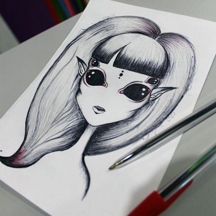 Alien Girl  #alien #girl #drawing