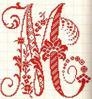 Filomena Crochet e Outros Lavores: - Monogramas -  M