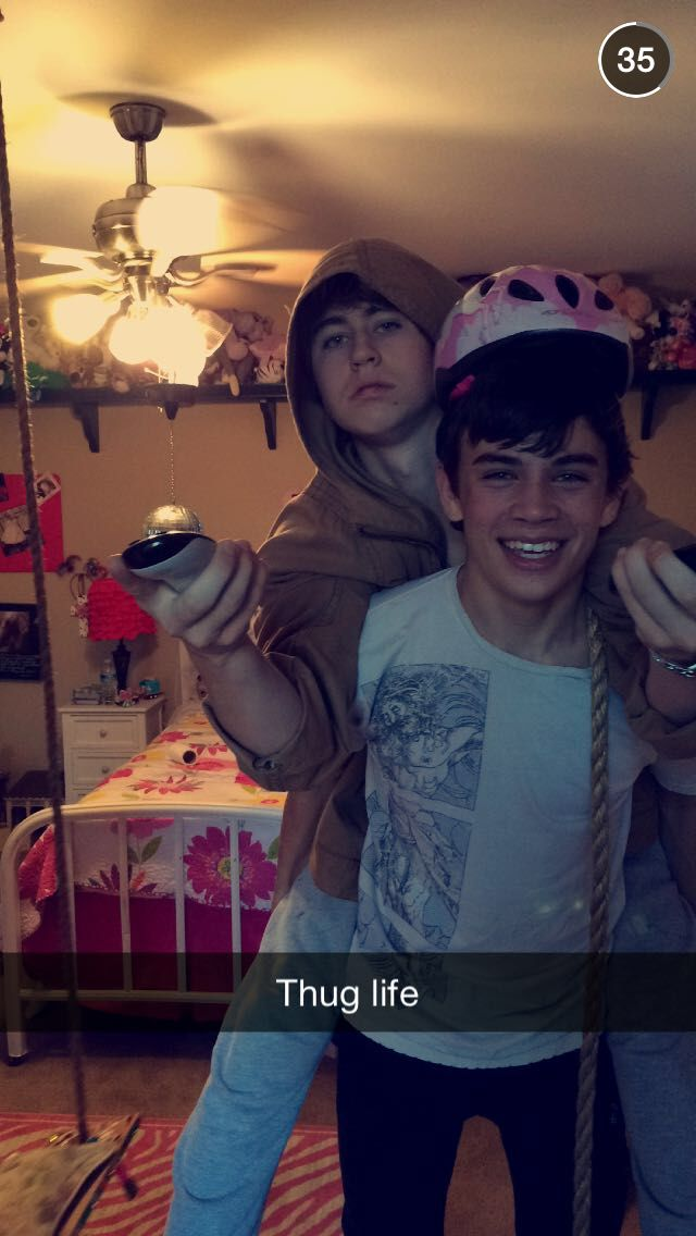 Nash Grier and his brother Hayes Grier took this for snapchat!