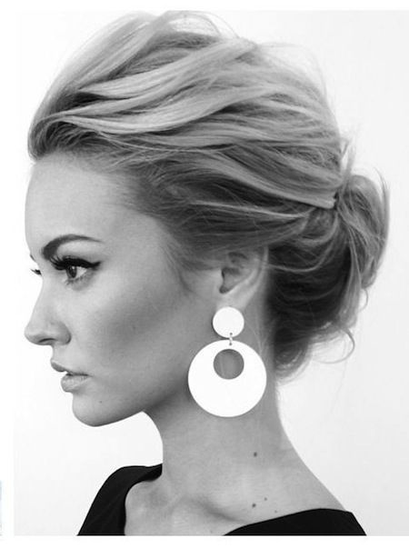 Updos for medium hair.  Gotta really love this one.