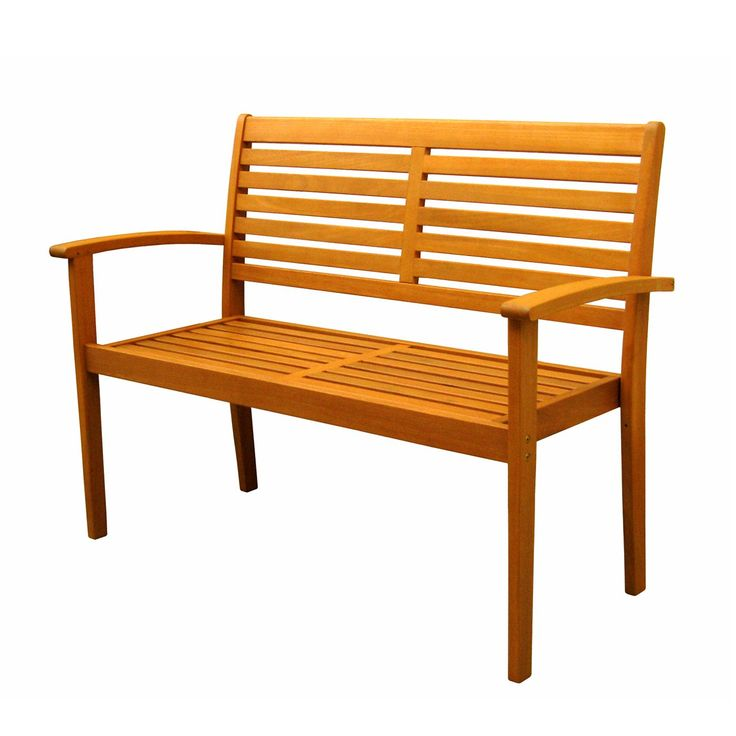 Shop International Caravan  TT-2B-043 Royal Tahiti Contemporary Outdoor Bench at ATG Stores. Browse our outdoor benches, all with free shipping and best price guaranteed.