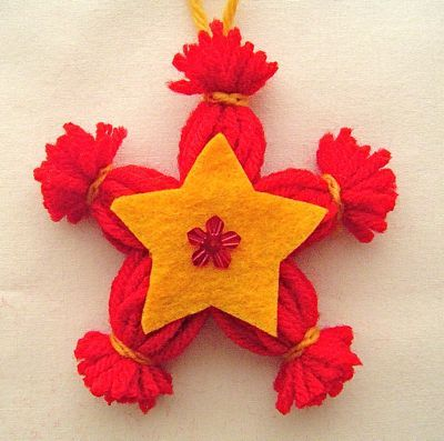 yarn star: Libraries Ideas, Crafts Ideas, Gifts Concept, Xmas Gifts, Ideas Crafts, Craft Ideas, Xmas Ideas