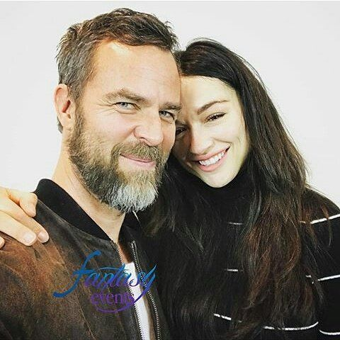 JR Bourne and Crystal Reed at the Nemeton Itacon Revolution in Rome today!
