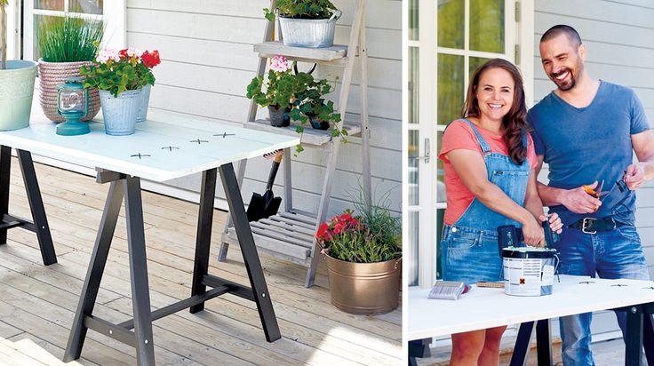 Bygg ett altanbord med benbockar