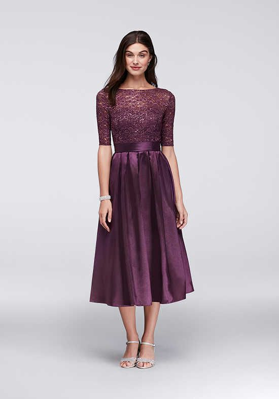 David's Bridal David's Bridal Style WBM1121 Purple Mother Of The Bride Dress